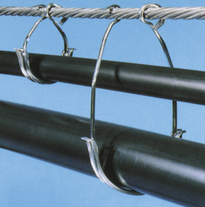 Cables can be run separately by using CAB's standard and long style rings.