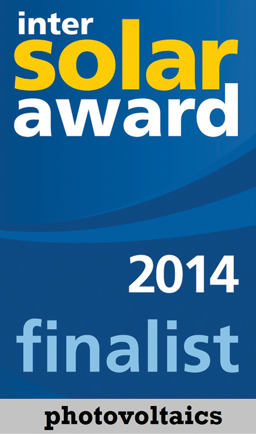 CAB Cable Rings and Saddles seelcted as finalist for Intersolar AWARD 2014