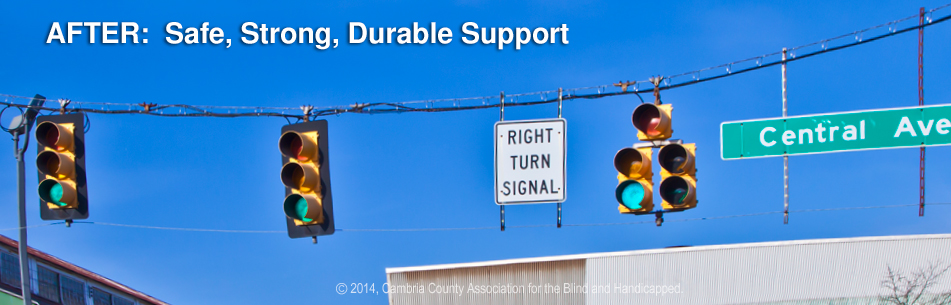 Safe strong durable cabling at traffic light