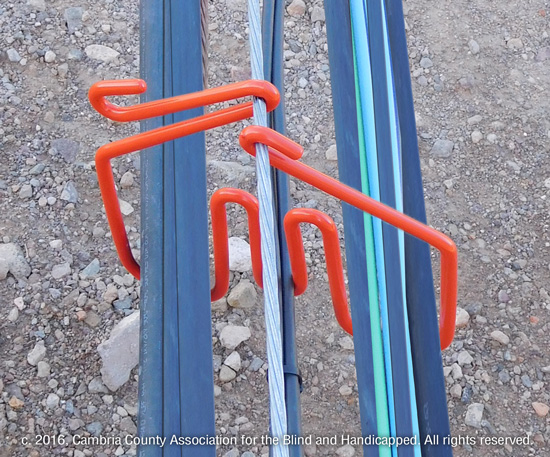 CAB Cable Rings and Saddles for solar PV arrays