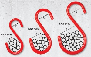 CAB S-Hooks with Top and Bottom Loop Dimensions