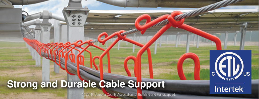 CAB Solar Hangers offer strong durable Cable Support in Solar PV Power Plants ETL Listed