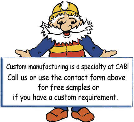 Call or Contact CCABH for free samples or custom manufacturing of any CAB Product