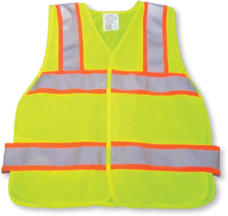Yellow Green Mesh Safety Vest