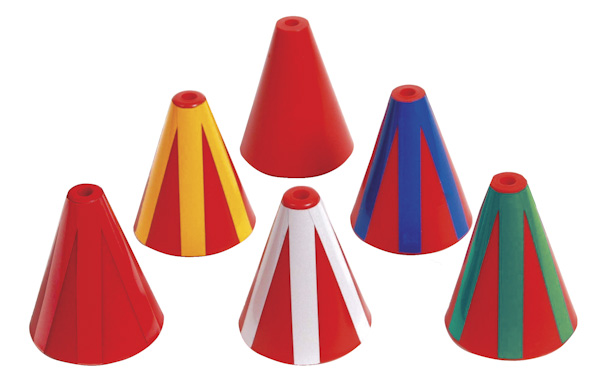Color Coded Directional Indicator Cones