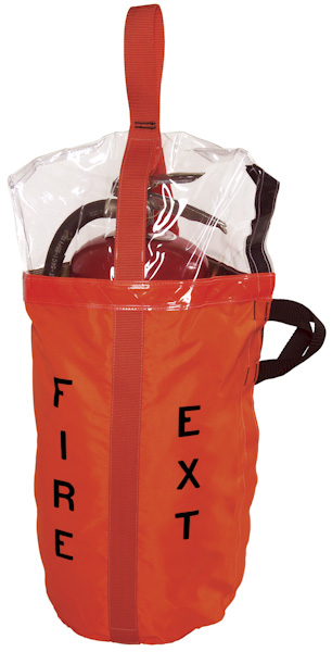 High Visibility Fire Extinquisher Bag with See-Thru Cover