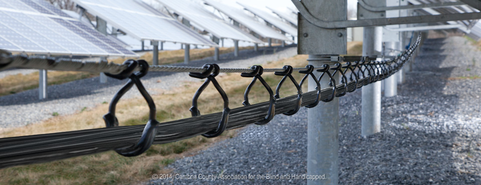 CAB Solar Hangers installed in a solar power plant.