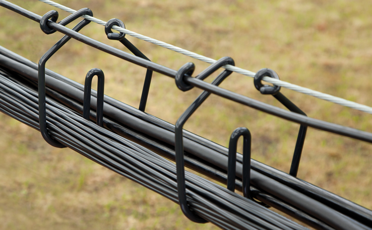 CAB Side by Side Hangers safely separate cables in solar PV array