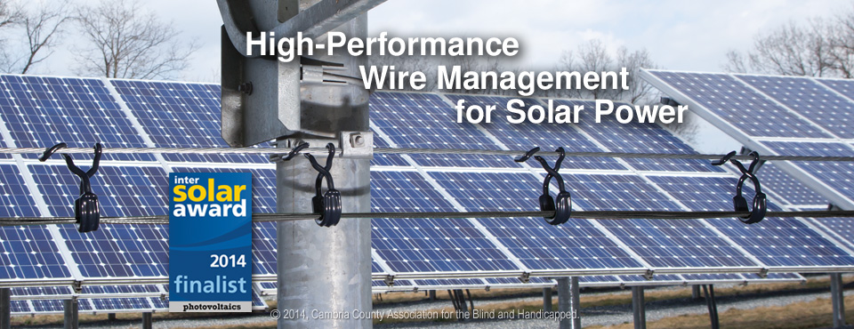 CAB Cable Ring and Saddle Wire Management in PV array