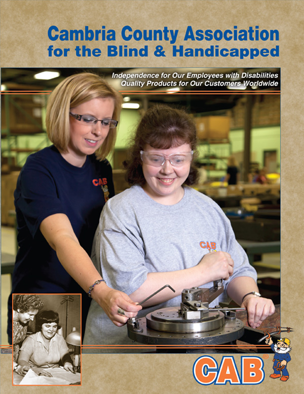 Cover of Agency Overview Brochure for Cambria County Association for the Blind and Handicapped