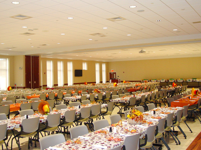 Photo of RC Bosserman Industrial and Rehabilitation Center, Johnstown PA set up for Employee's Thanksgiving Lunch