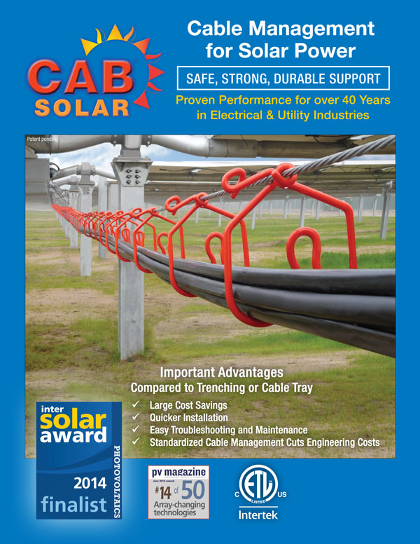 Cover of CAB Solar Brochure updated 2016