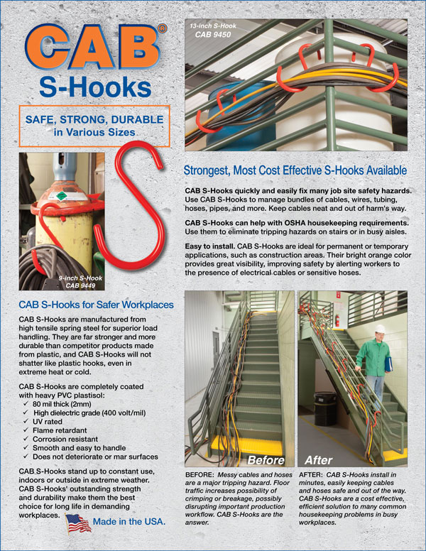 Cover of CAB S-Hook Sales Flier