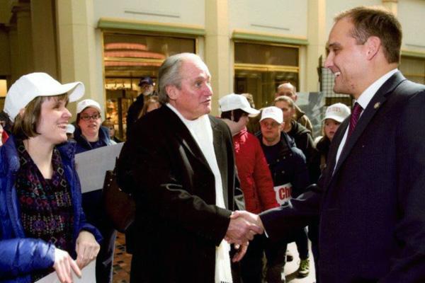 CAB employees greet PA State Senator Wayne Langerholc