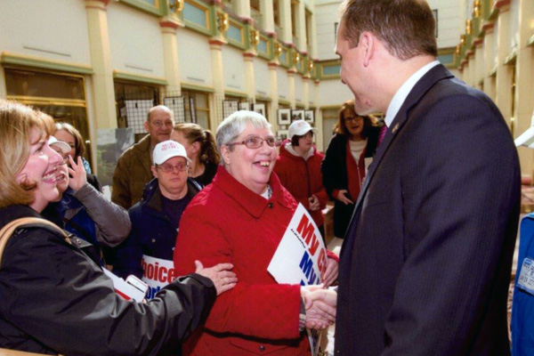 CAB ladies shake hands with PA State Senator Wayne Langerholc