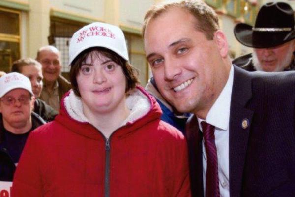 Smiling CAB employee with PA State Senator Wayne Langerholc