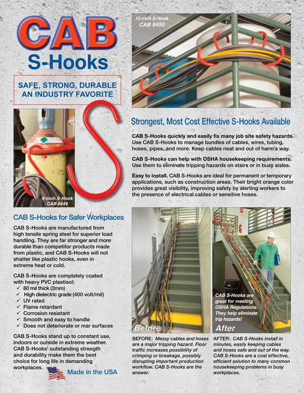 CAB S-Hooks Brochure Cover