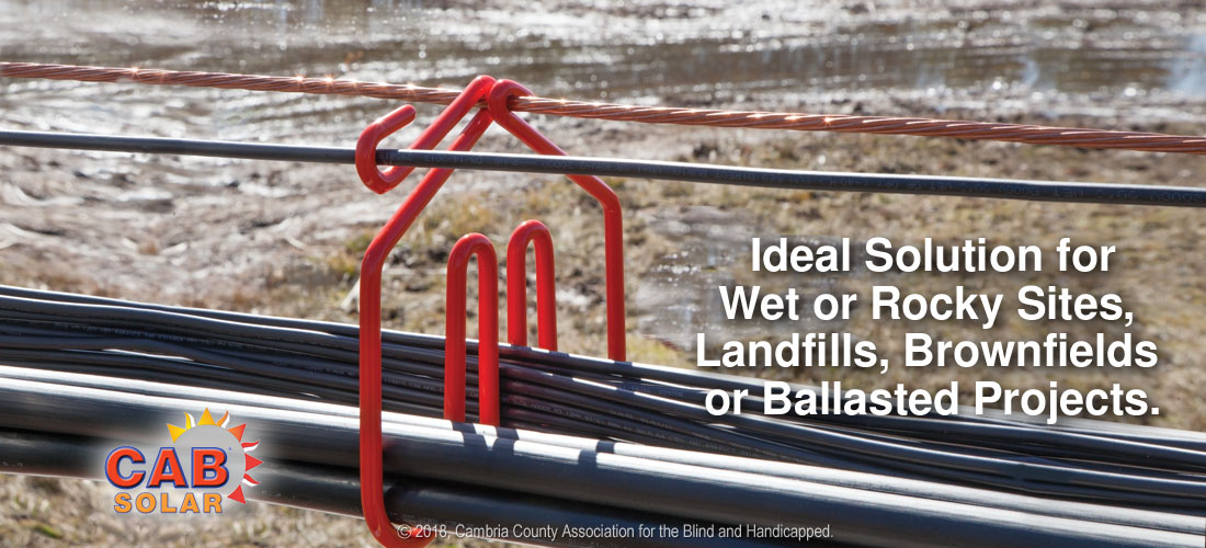 Cab Hangers are ideal solution for wet or rocky sites, landfillls, brownfields or ballasted sites.