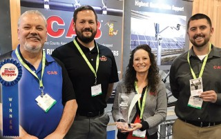 CAB Crew at NEC Show with 2018 Showstopper Award