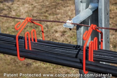 Mid Pier - CAB Solar Cable Management with Integrated Grounding