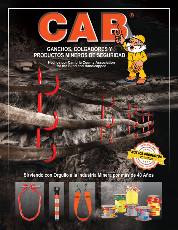 Cover of Spanish Language CAB Hooks, Hangers and Mine Safety Products Catalog 2019-2020