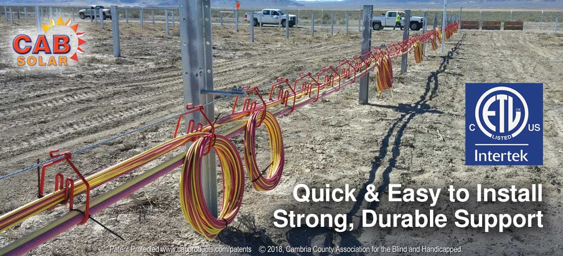 CAB Solar Hangers - Quick & East to Install - Strong, Durable Support