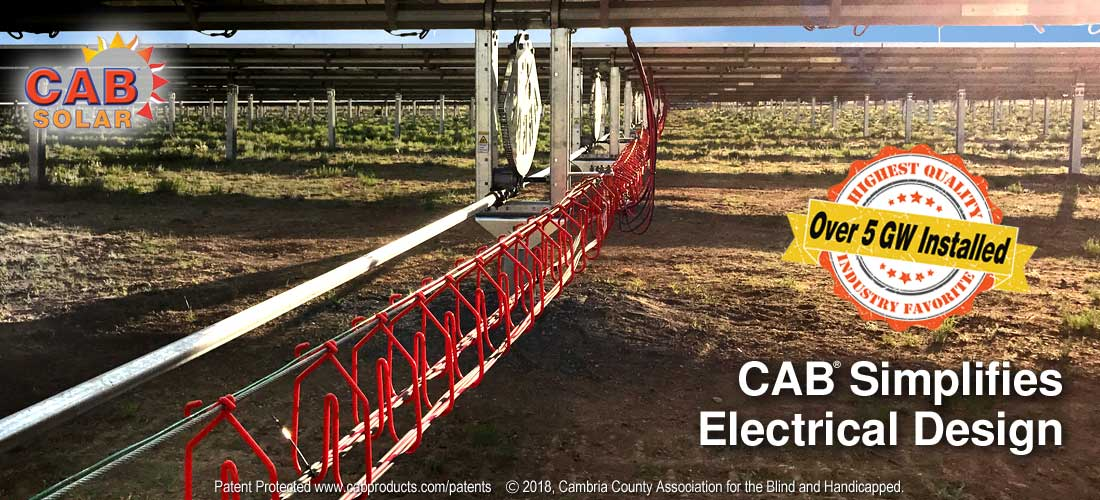 CAB Solar Cable Management - Simplifies Electrical Design