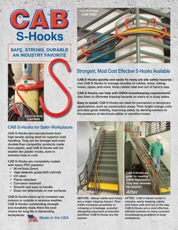 CAB S-Hook Sales Sheet 2018 Page 1Front