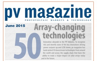 PV Magazine Top 50 Array Changing Technologies
