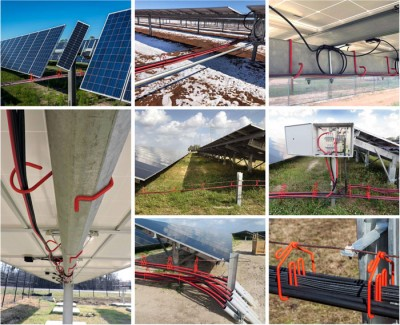 Photos of Solar Installations using CAB Wire Management