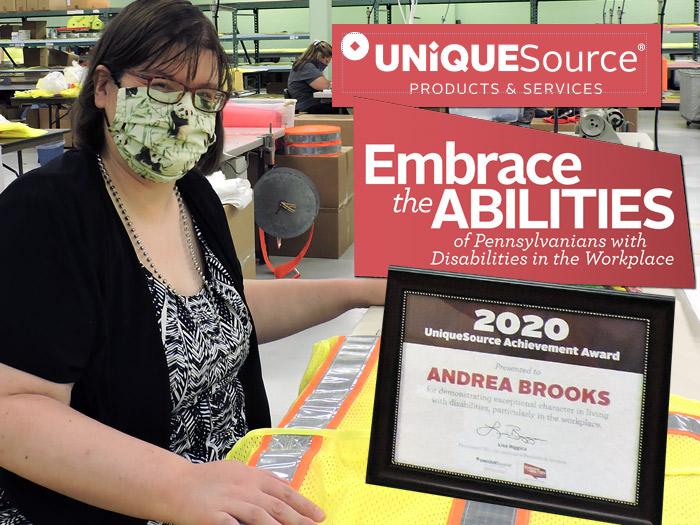 CAB's Andrea Brooks wins 2020 Unique Source Achievement Award