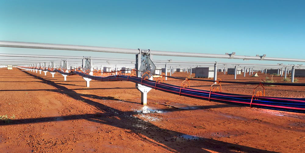CAB large capacity 3-carrier hangers simplify cable management in utility-scale solar project in Australia
