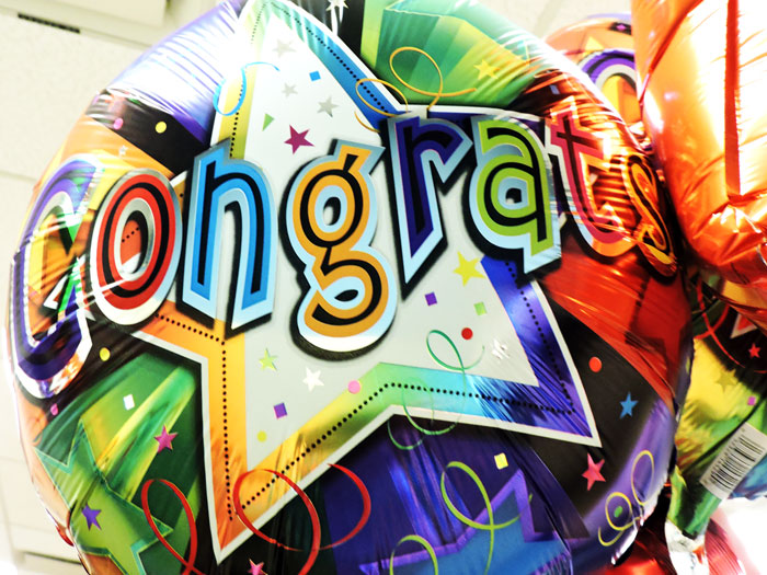 Congratulations Andrea Brooks Balloons